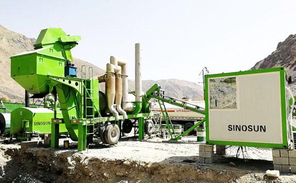 Planta móvil de mezcla de tambores de asfalto en Kazajstán - CAP40M