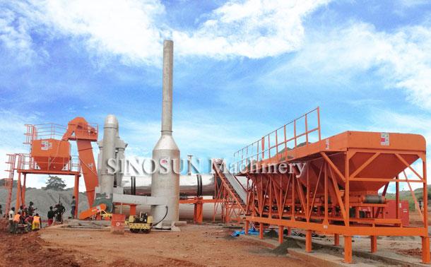Planta de mezcla de tambores de asfalto en Camerún - CAP80