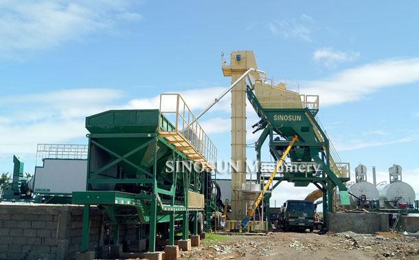 Planta mezcladora de asfalto móvil en Filipinas - MAP1000