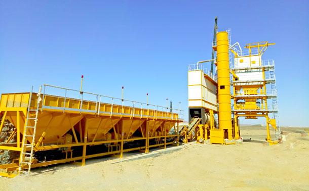 Planta mezcladora de asfalto en Egipto - SAP160